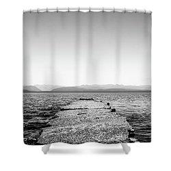 Towards The Nahuel Huapi Lake Shower Curtain