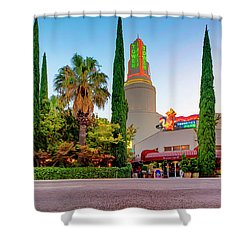 Tower Cafe Dusk- Shower Curtain