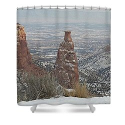 Tower Rock Shower Curtain