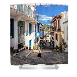 Town Of Skopelos Shower Curtain