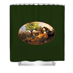 Tractor And Barn Shower Curtain