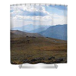 Trail Ridge Road Arctic Panorama Shower Curtain