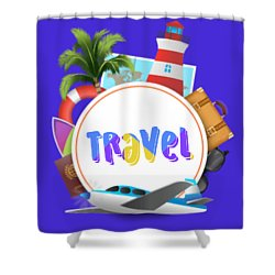 Travel World Shower Curtain
