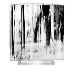 Shower Curtain featuring the photograph Tree Abstract In Black And White by Angie Tirado