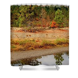 Shower Curtain featuring the photograph Tree In Illinois River by Jerry Sodorff