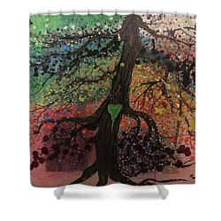 Tree Of Life Chakra Tree Shower Curtain
