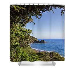 Trees And Ocean Shower Curtain