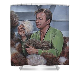 Tribble Trouble Shower Curtain