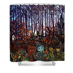 Trick Or Treat Sleepy Hollow Shower Curtain