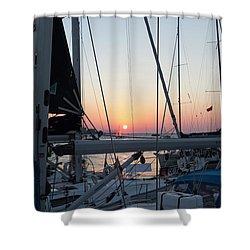 Trieste Sunset Shower Curtain