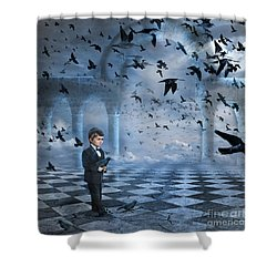 Tristan's Birds Shower Curtain