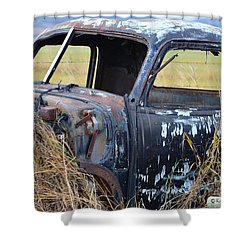 Truck Remnant Shower Curtain