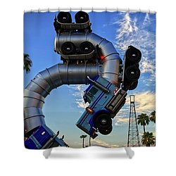 Shower Curtain featuring the photograph Truckin' by Skip Hunt