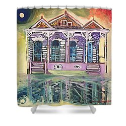Tryptic On The Bayou New Orleans Shower Curtain