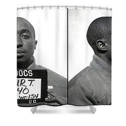 Tupac Shakur Mugshot 1995 Shower Curtain