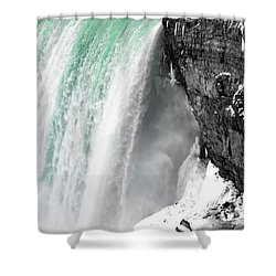 Turquoise Falls Shower Curtain