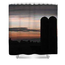 Twilight Silos Shower Curtain