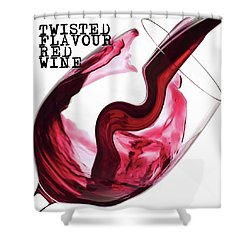 Twisted Flavour Red Wine Shower Curtain