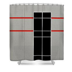 Two Red Stripes Shower Curtain