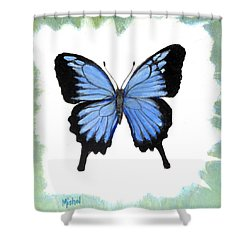 Ulysses Blue Shower Curtain