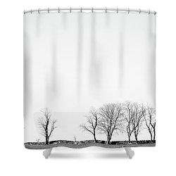 Under A Winter Sky Shower Curtain