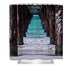 Shower Curtain featuring the photograph Under The Pier #3 Opf by Stuart Manning