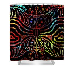 Under The Sea Digital Patterns Of Life Shower Curtain