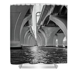 Under The Woodrow Wilson Bridge Shower Curtain