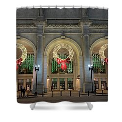 Union Station Holiday Shower Curtain