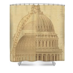 United States Capitol, Section Of Dome, 1855 Shower Curtain