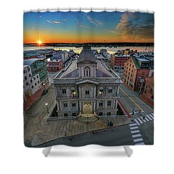 Shower Curtain featuring the photograph United States Custom House by Rick Berk