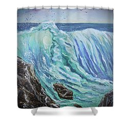 Unstoppable Force Shower Curtain