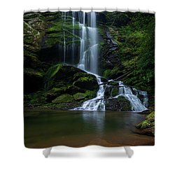 Upper Catawba Falls, North Carolina Shower Curtain