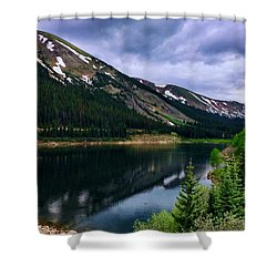 Shower Curtain featuring the photograph Urad Lake by Dan Miller