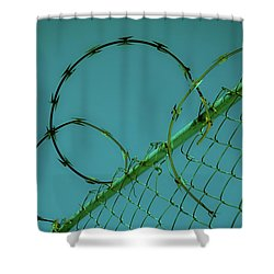 Urban Geometry Shower Curtain