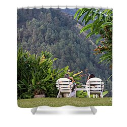 Vacation On Strawberry Hill Shower Curtain