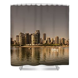 Vancouver Golden Light Hour Shower Curtain
