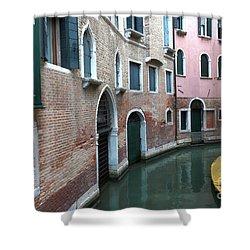 Venetian Streets -canals. Carlo Galdoni Museum Shower Curtain