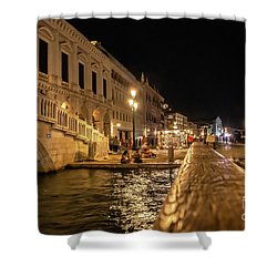 Venice At Night. San Marco Shower Curtain