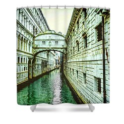 Shower Curtain featuring the photograph Venice Bridge Of Sighs by Kay Brewer
