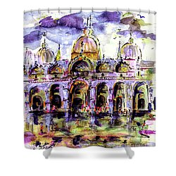 Venice Piazza San Marco Shower Curtain