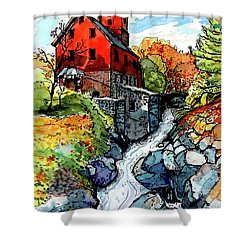 Vermont Red Shower Curtain