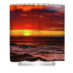 Vertical Warmth Shower Curtain