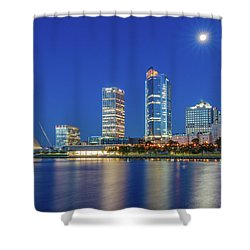 Veterans Park Dawn Shower Curtain