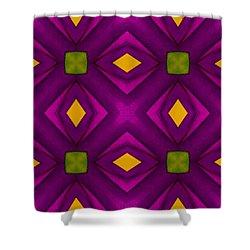 Vibrant Geometric Design Shower Curtain