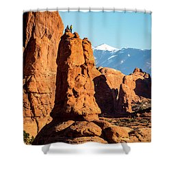 Shower Curtain featuring the photograph Victory Dance by David Morefield