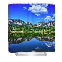 Shower Curtain featuring the photograph Viele Lake by Dan Miller