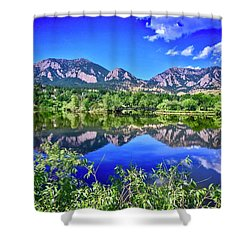 Shower Curtain featuring the photograph Viele Lake 2 by Dan Miller