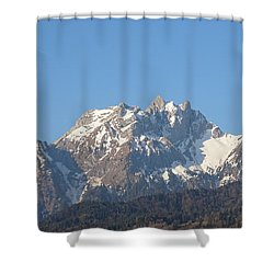 View From My Art Studio - Pilatus I - April 2019 Shower Curtain