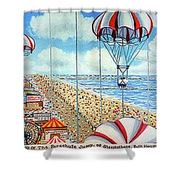 View From Parachute Jump Towel Version Shower Curtain